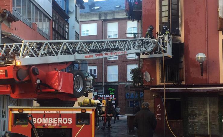 Incendio en 'La Casuca' en Torrelavega