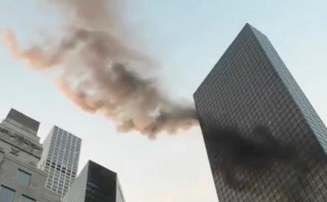 Un herido grave tras un incendio en la Torre Trump en Nueva York