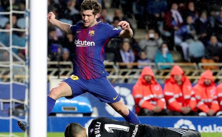 Los mejores momentos del Real Sociedad-Barcelona, en imágenes