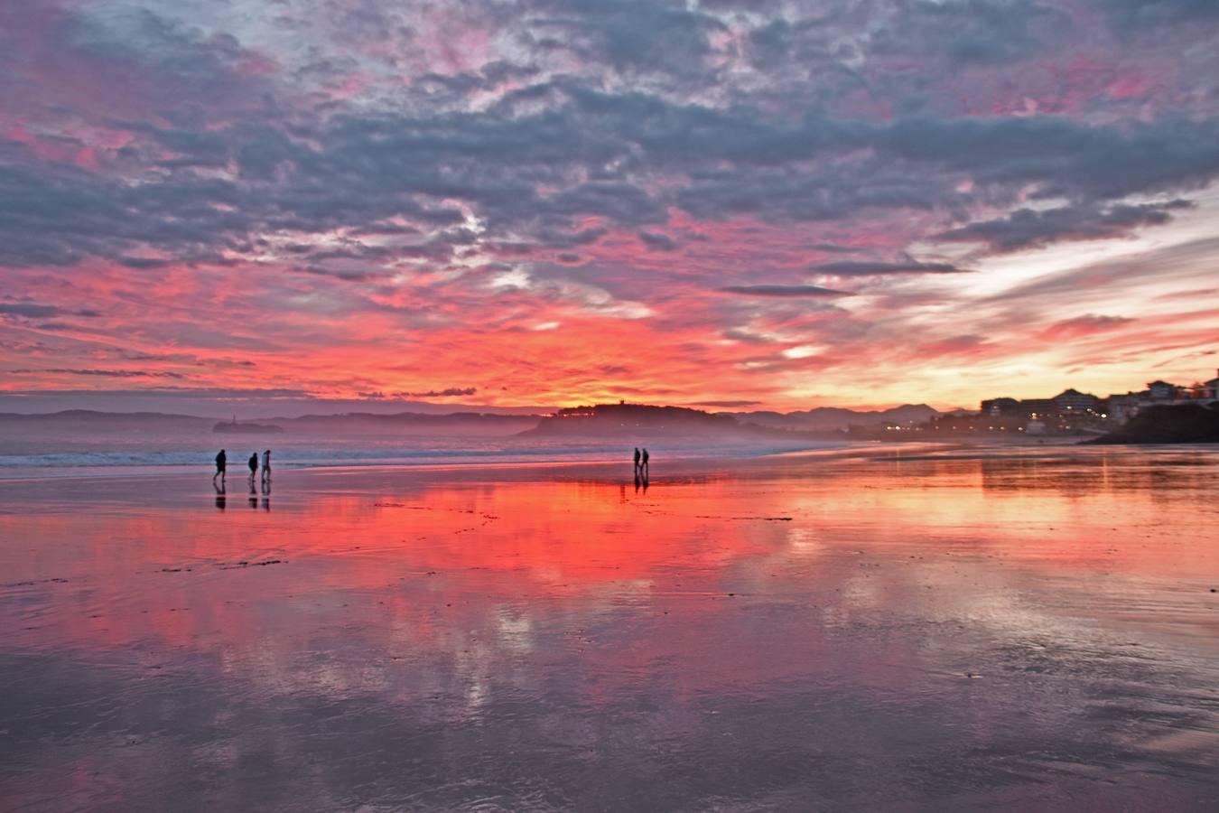 Festival de amaneceres y ocasos sobre Santander