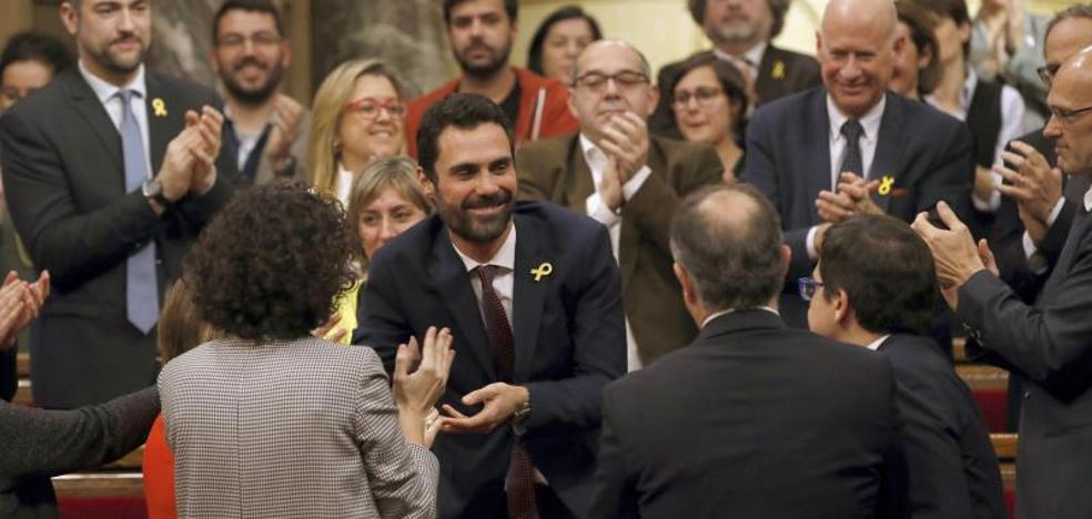 El independentista Roger Torrent, presidente de la Cámara catalana