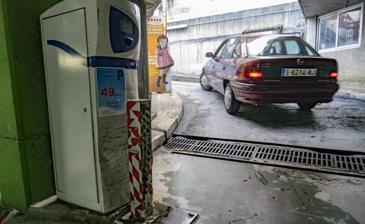 El mal estado de los parkings subterráneos de Santander
