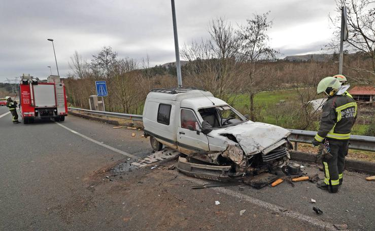 Accidente en Virgen de la Peña