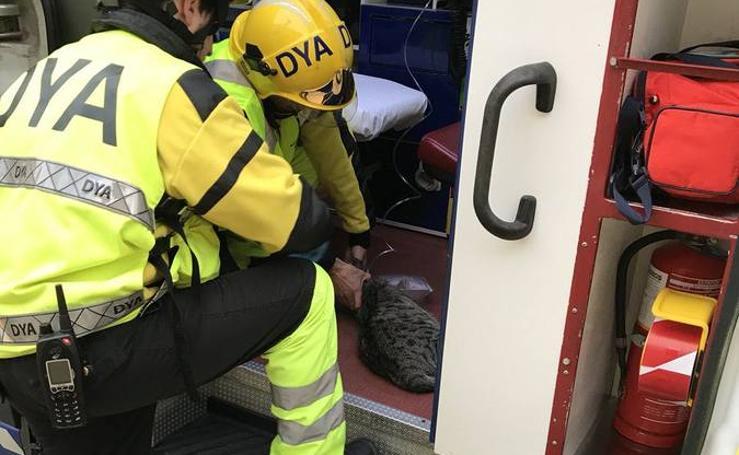 Rescate de dos personas, dos perros y un gato en un incendio en Ontón