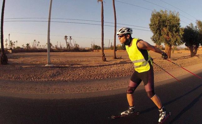 Samir Azzimani, el esquiador que preparó los Juegos Olímpicos en el desierto