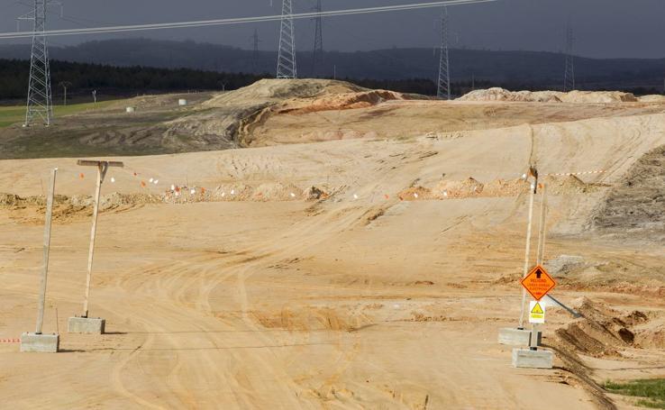 Trabajos en la autovía entre Aguilar y Burgos