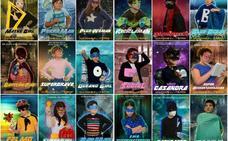 Superhéroes escolares para la Tierra