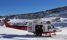Evacuado en helicóptero un esquiador herido en una competición en Alto Campoo