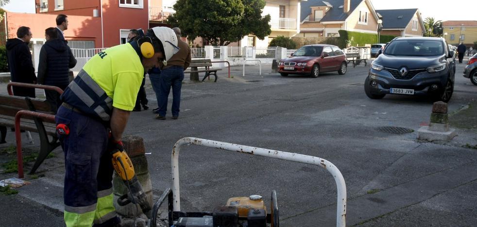 Mejora de los accesos al barrio Insa en Tanos
