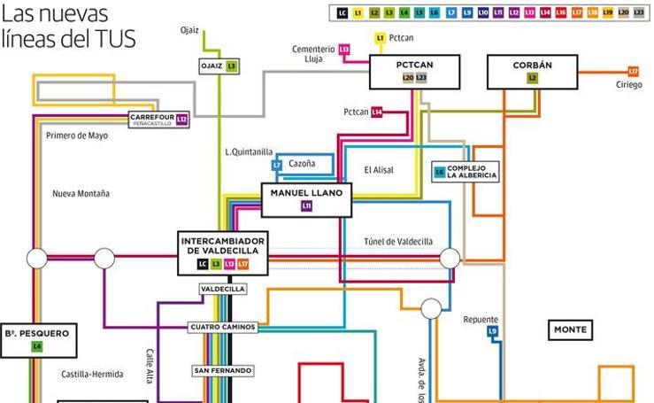 Así es el nuevo plano del Metro TUS