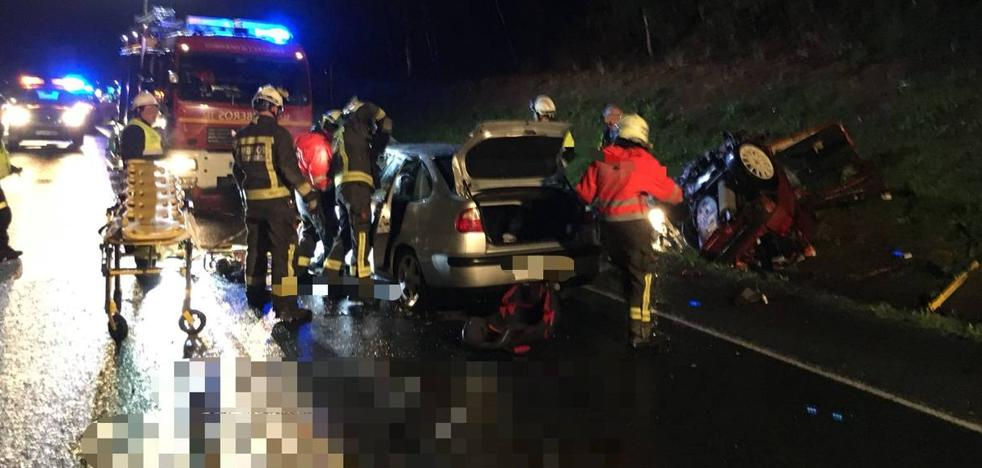 Dos muertos y cuatro heridos en un accidente en la N-629 a la altura de Limpias