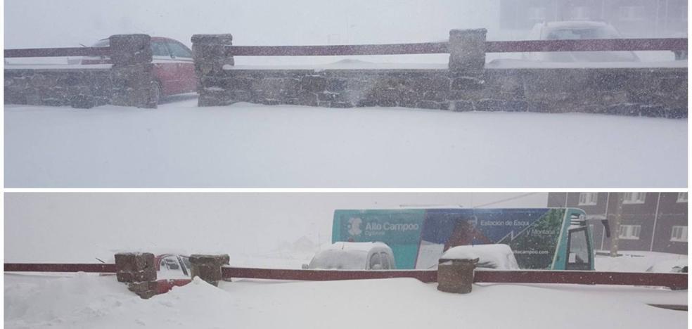 Una nevada antológica en Brañavieja