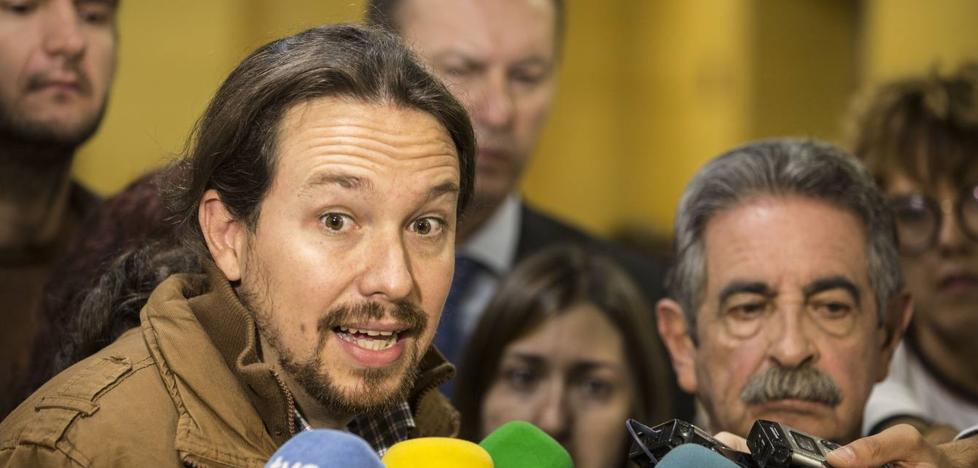 Pablo Iglesias y Alberto Garzón, contra el puerto deportivo de San Vicente