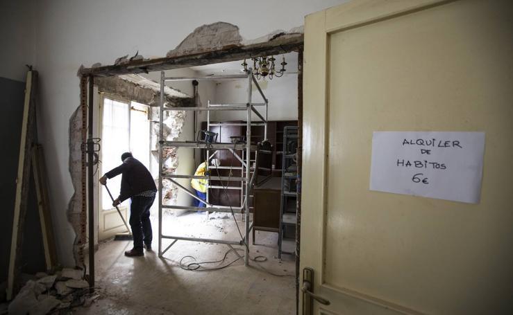 Obras de reforma en la Casa Capitular del Obispado