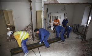 La Casa Capitular del Obispado comienza a desmantelarse para su reforma integral