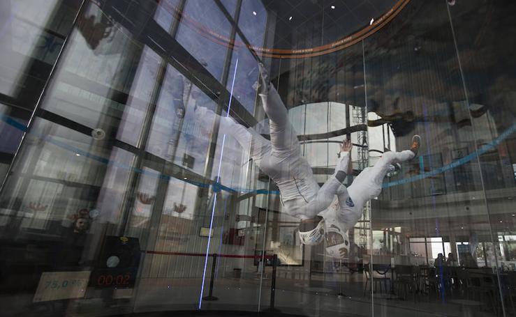 El túnel de viento más alto de Europa, en imágenes
