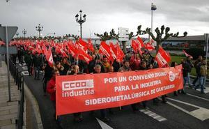 CCOO y UGT anuncian movilizaciones si no se desbloquea el convenio del metal en Cantabria
