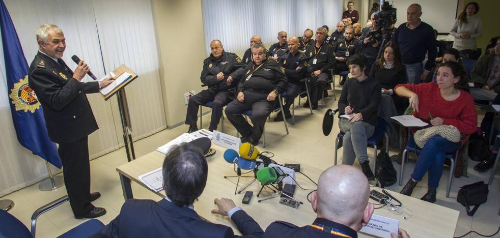 La Policía Nacional detiene cada día a cinco personas en Santander y Torrelavega