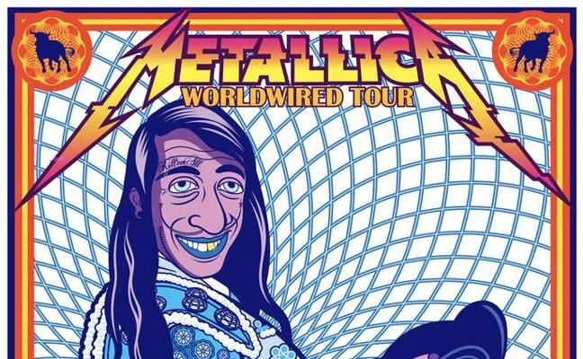 El polémico cartel oficial de Metallica diseñado por un cántabro