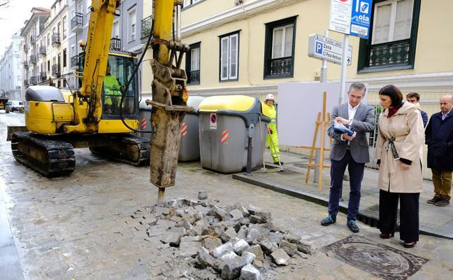 La calle Peña Herbosa estará remodelada para el mes de junio