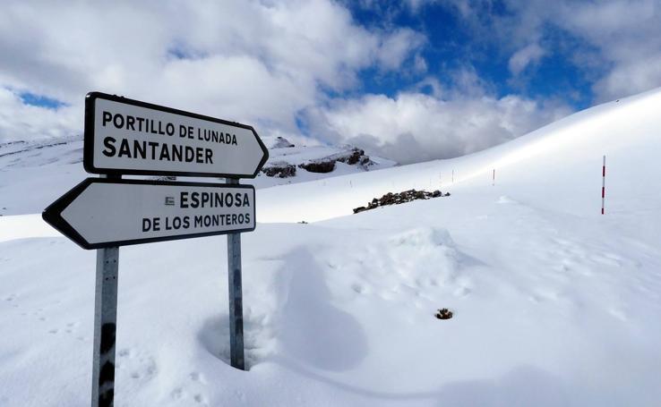 Cumbres blancas en los Valles Pasiegos