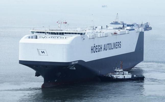 El buque Höegh Jeddah enlaza el Puerto de Santander con Baltimore