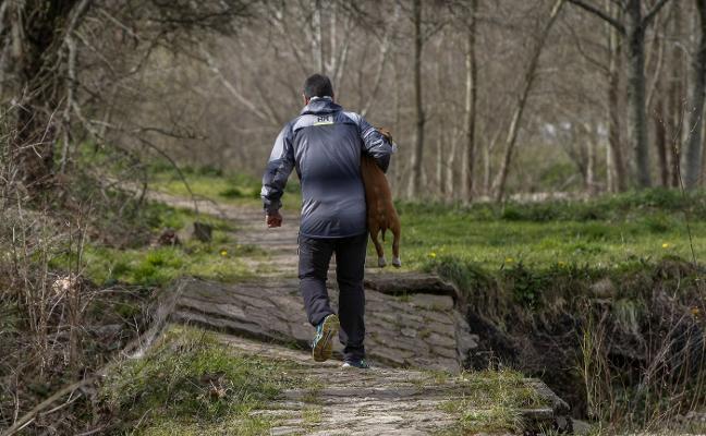 Los usuarios del paseo fluvial de Torrelavega critican su progresivo estado de «abandono»