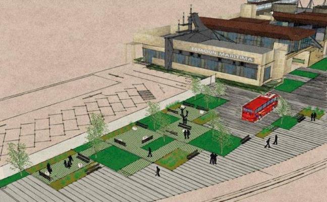 Comienzan las obras para renovar el entorno de la Estación Marítima