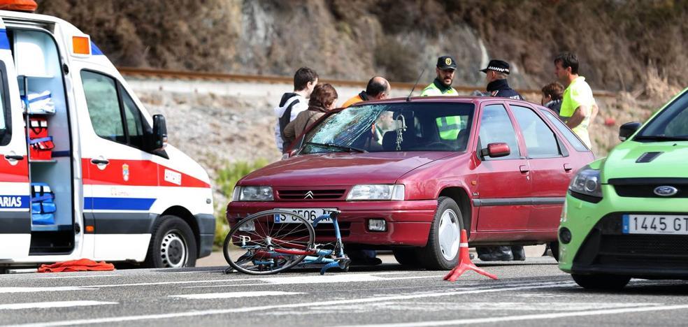 El ciclista atropellado en Cabezón está «fuera de peligro»