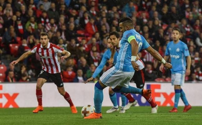 San Mamés empuja, el Athletic responde y el Marsella golpea
