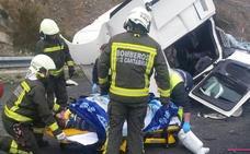 Un choque entre dos camiones en Montabliz provoca retenciones en la Autovía de la Meseta