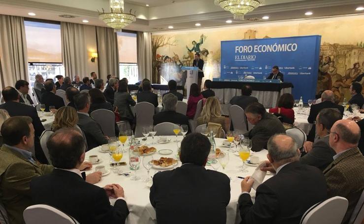 El economista Juan Ramón Rallo, en el Foro Económico de El Diario Montañés