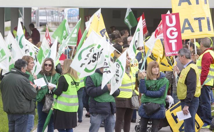 Manifestación del SUAP y el 061
