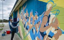 El edificio de Remo rinde homenaje a la trainera y al mundo del grafiti