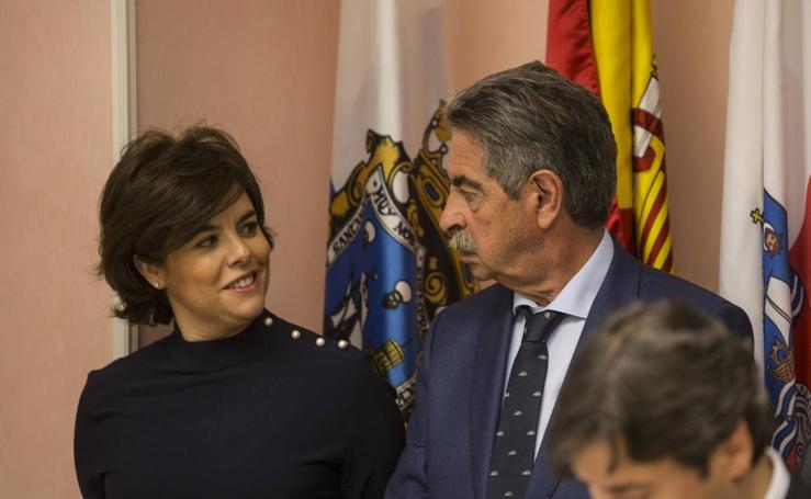 Así ha sido el paso de la vicepresidenta por Cantabria