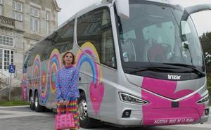 Los corazones de Agatha Ruiz de la Prada se suben al bus en Cantabria