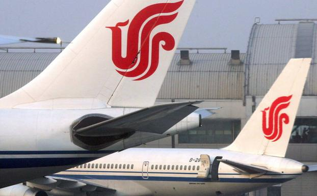 Dos aviones de Air China./Reuters