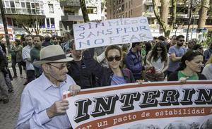 El STEC cifra en 400 los docentes que han secundado hoy la huelga de interinos