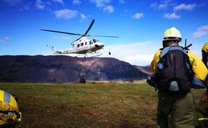 Ocho incendios forestales siguen activos en Cantabria, cuatro en Vega de Pas