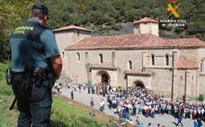 Amplio operativo de seguridad para el cierre de la Puerta del Perdón
