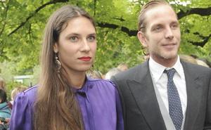 Andrea Casiraghi y Tatiana Santo Domingo, padres de un niño