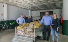Polanco recibe 1.350 kilos de 'patatas solidarias' de los agricultores de Valderredible