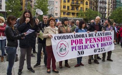 La Coordinadora de Pensionistas de Cantabria carga contra el PP por pedirles que den las gracias