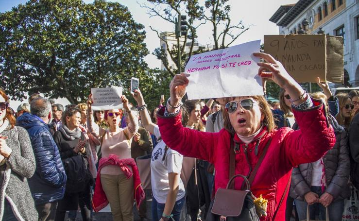 Manifestación en Santander contra la sentencia de 'La manada'