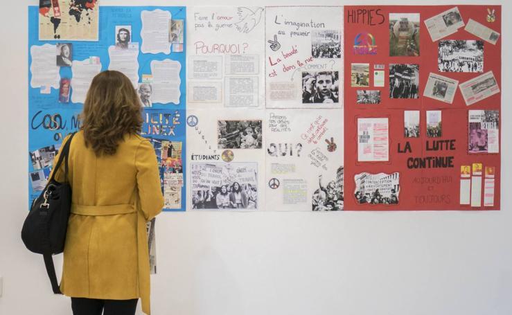 Imágenes de la muestra sobre el Mayo del 68 de la Biblioteca Central de Cantabria
