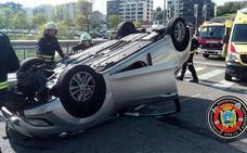 El conductor que volcó en la S-20 cuadruplicó la tasa de alcoholemia