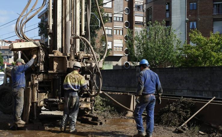 Comienzan los sondeos para soterrar las vías del tren en Torrelavega