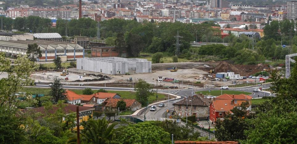 La zona comercial de Ganzo toma impulso con la construcción de las primeras naves