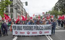 UGT y CCOO cortan la calle para exigir la revalorización y el futuro de las pensiones
