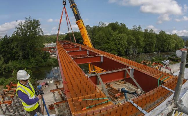El puente de Golbardo empieza a ser realidad